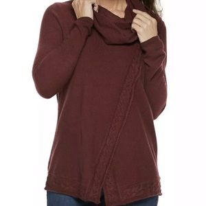 Croft & Barrow Women's Cable-Knit Cowlneck Sweater